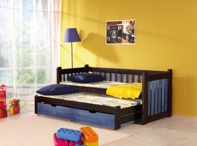 MebloBed Rozkládací postel Filip s úložným prostorem