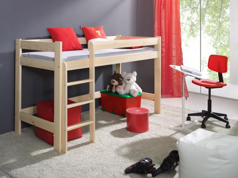 MebloBed Patrová postel Laura 80x200 cm (Š 87 cm, D 208 cm, V 115 cm), Vanilka, Wenge, 1 ks hlavní matrace, žebřík na pravé straně 22849afef3f388f8734e3e3d2e9c6bc1