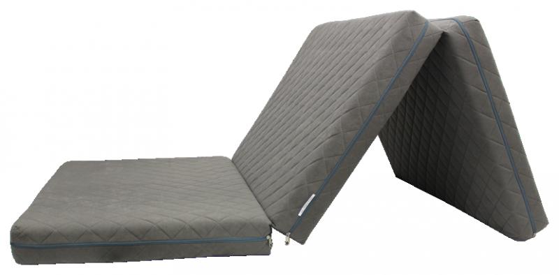 e-matrace.com Skládací matrace Deluxe Gray - 90x195x10 cm
