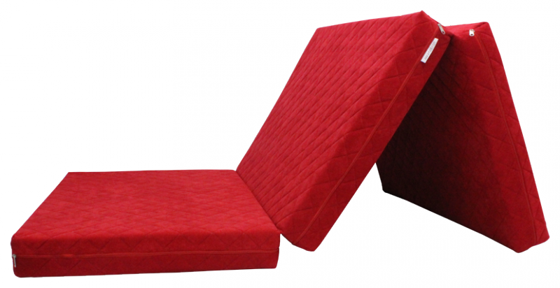e-matrace.com Skládací matrace Deluxe Strawberry - 90x195x10 cm