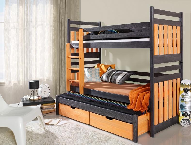MebloBed Patrová postel Sambor - trojlůžko