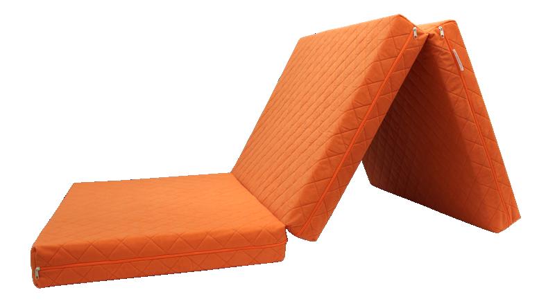 e-matrace.com Skládací matrace Deluxe Orange - 90x195x10 cm