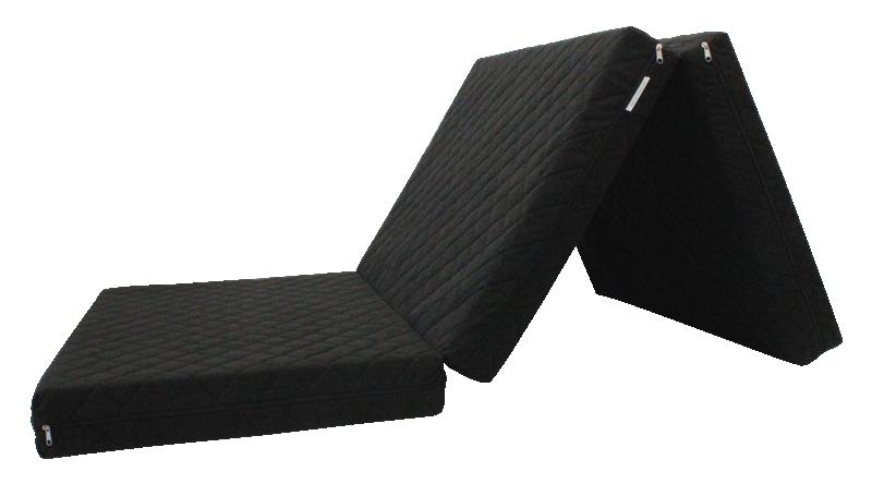 e-matrace.com Skládací matrace Deluxe Black - 90x195x10 cm