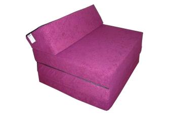 Natalia Rozkládací křeslo - matrace pro hosty fialová
