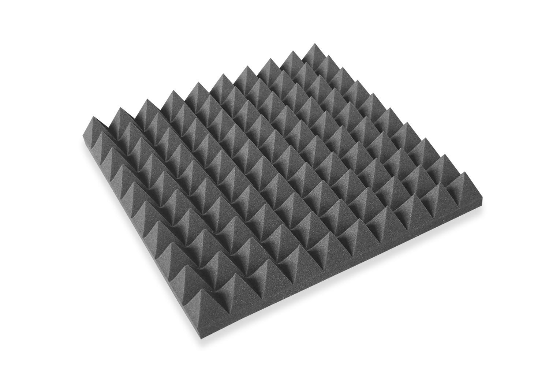 Mega-acoustic Akustická pěna jehlan grafit 50x50x5 cm