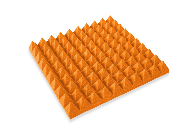 Mega-acoustic Akustická pěna jehlan oranžový 50x50x5 cm