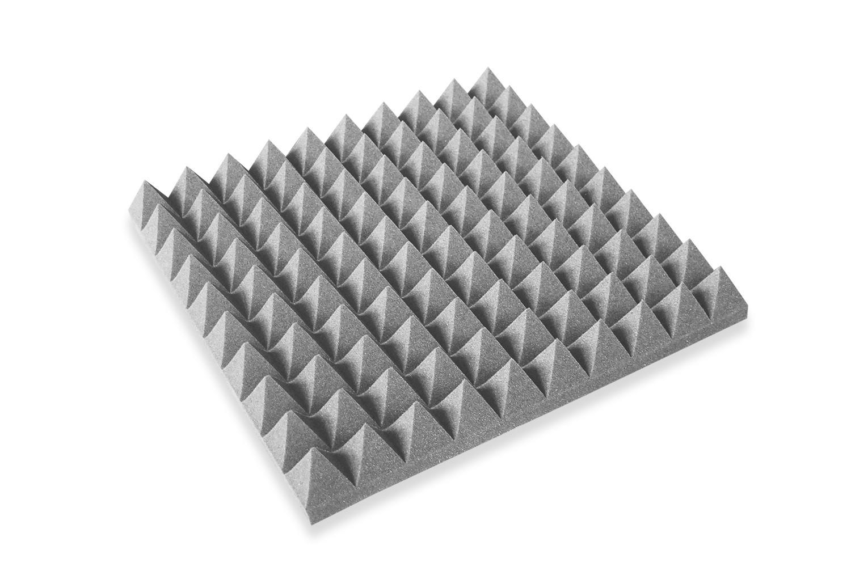 Mega-acoustic Akustická pěna jehlan šedý 50x50x7 cm