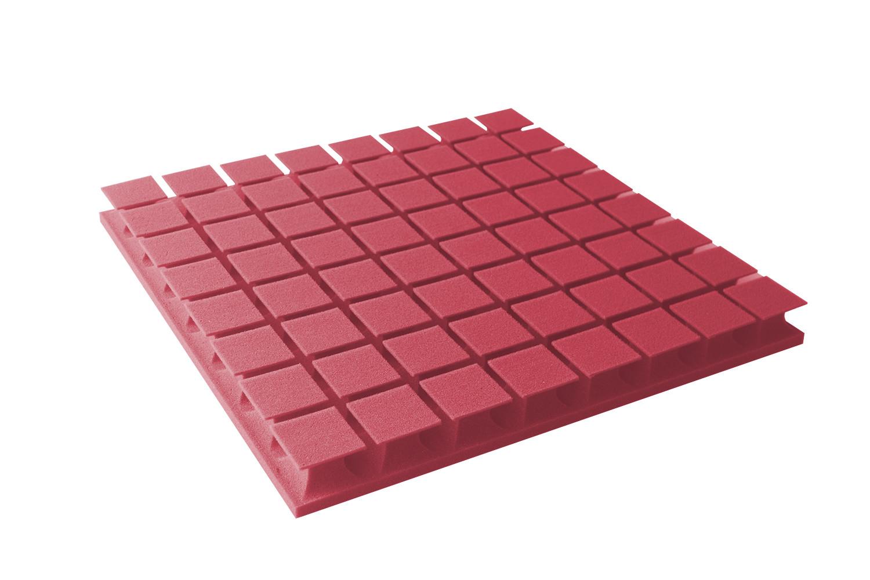 Mega-acoustic Akustická pěna premium PM-8K červená 60x60x6 cm