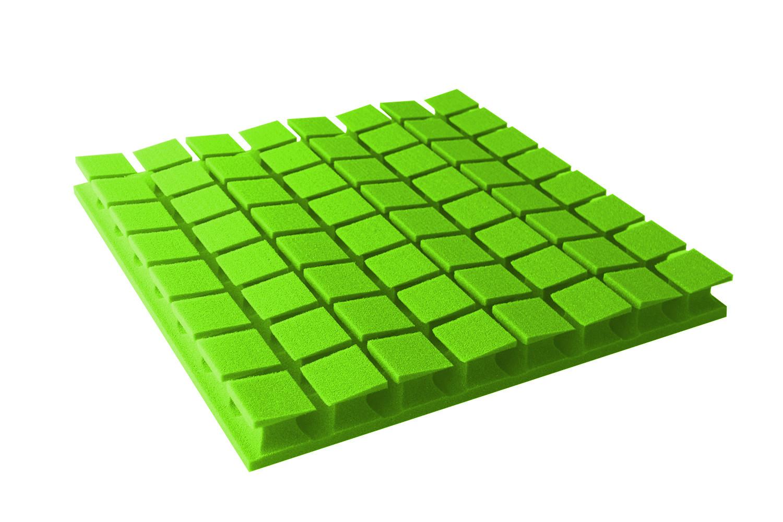 Mega-acoustic Akustická pěna premium PM-8K-U zelená 60x60x6 cm