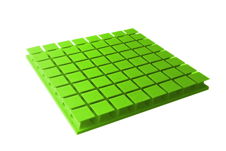 Mega-acoustic Akustická pěna premium PM-8K zelená 60x60x6 cm