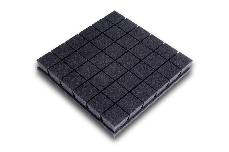 Mega-acoustic Akustická pěna premium PM-K grafit 50x50x7 cm