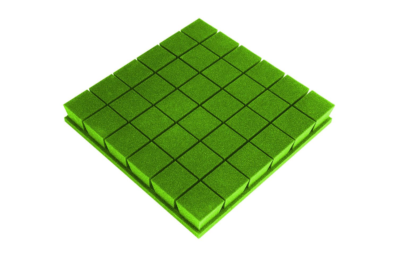 Mega-acoustic Akustická pěna premium PM-K zelená 50x50x7 cm