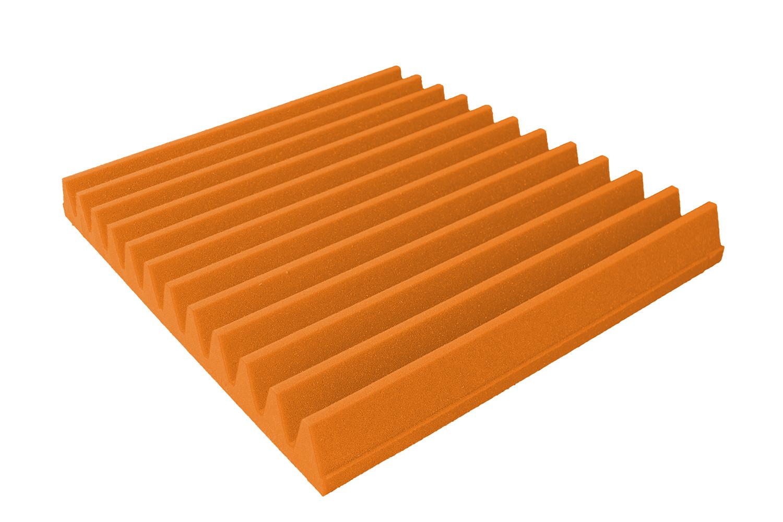 Mega-acoustic Akustická pěna premium Trapez oranžová 30x30x7 cm