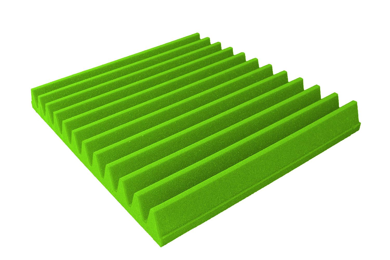 Mega-acoustic Akustická pěna premium Trapez zelená 30x30x7 cm