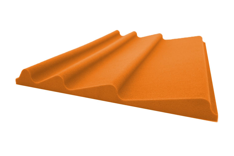 Mega-acoustic Akustická pěna premium Vlna oranžová A