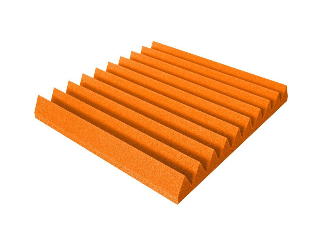 Mega-acoustic Akustická pěna V-profil oranžová 50x50x7 cm