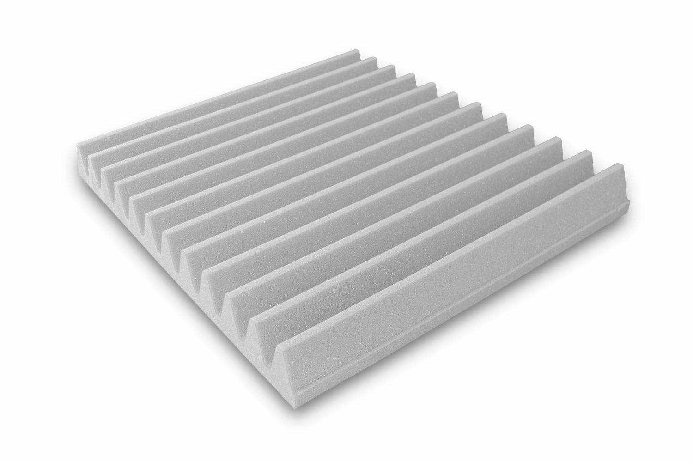 Mega-acoustic Akustická pěna V-profil šedá 50x50x7 cm
