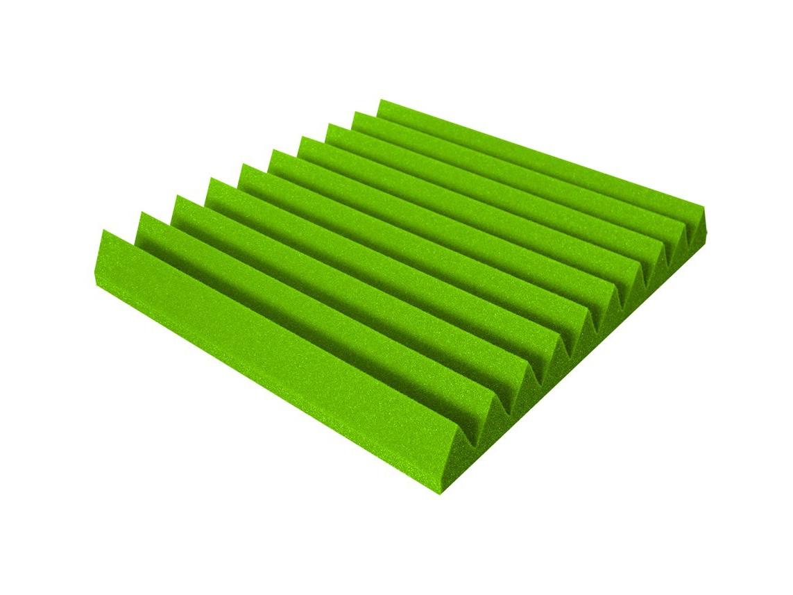 Mega-acoustic Akustická pěna V-profil zelená 50x50x4 cm