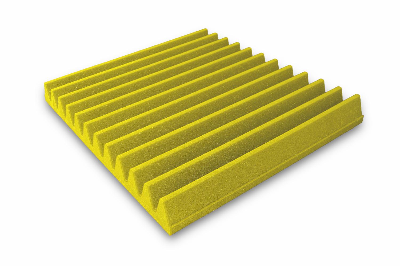 Mega-acoustic Akustická pěna V-profil žlutá 50x50x7 cm