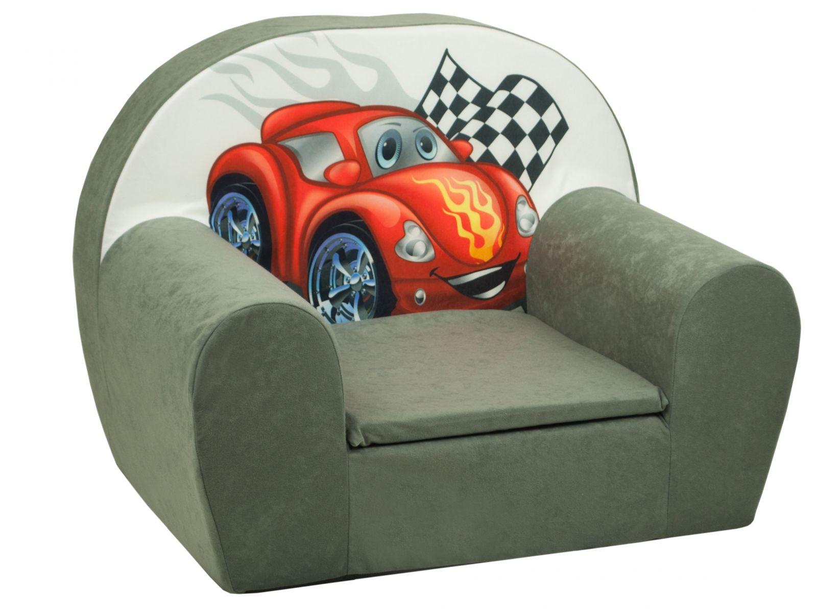 Fimex Dětské křesílko Auto šedé