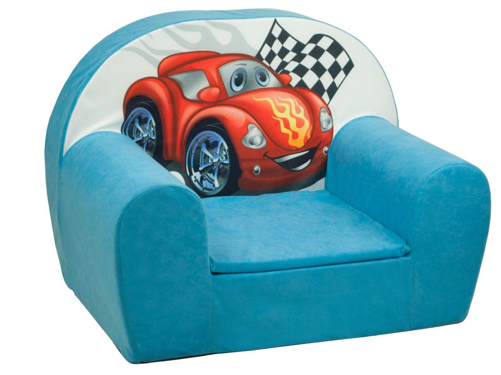 Fimex Dětské křesílko Auto světle modré