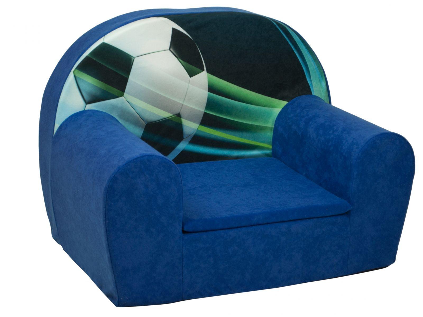 Fimex Dětské křesílko Fotbal modré