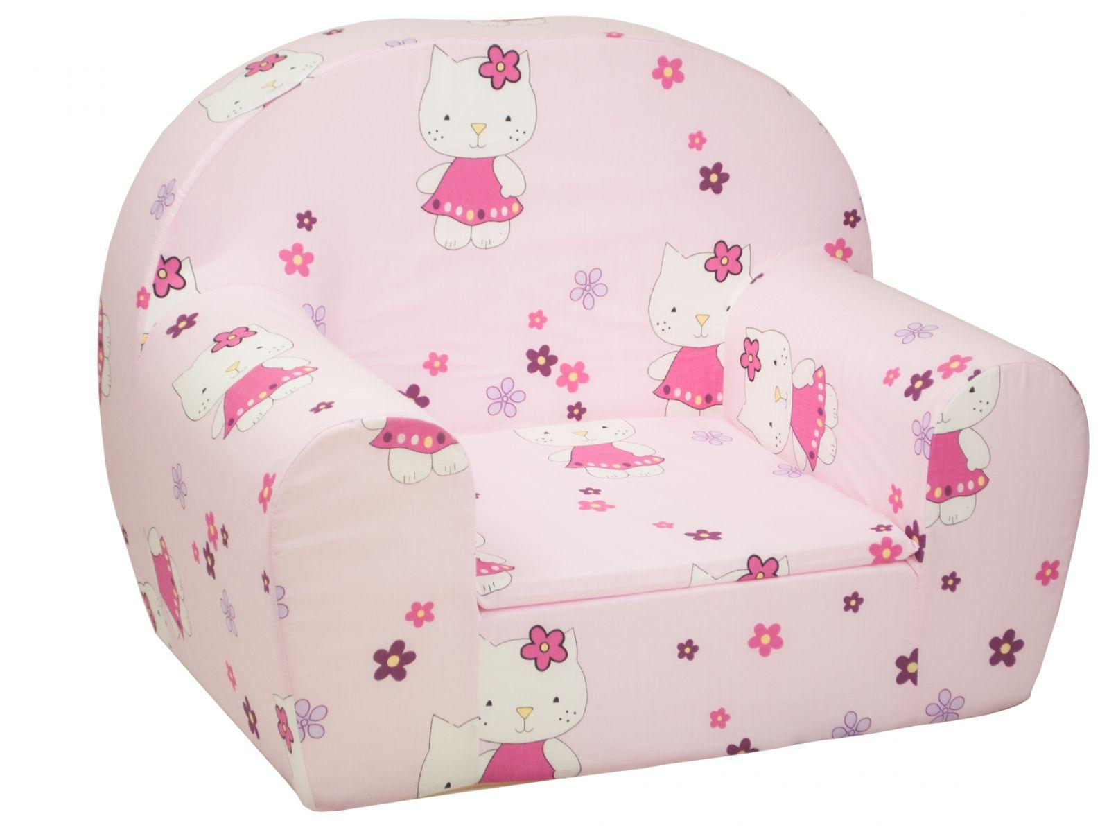 Fimex Dětské křesílko Kočky růžové
