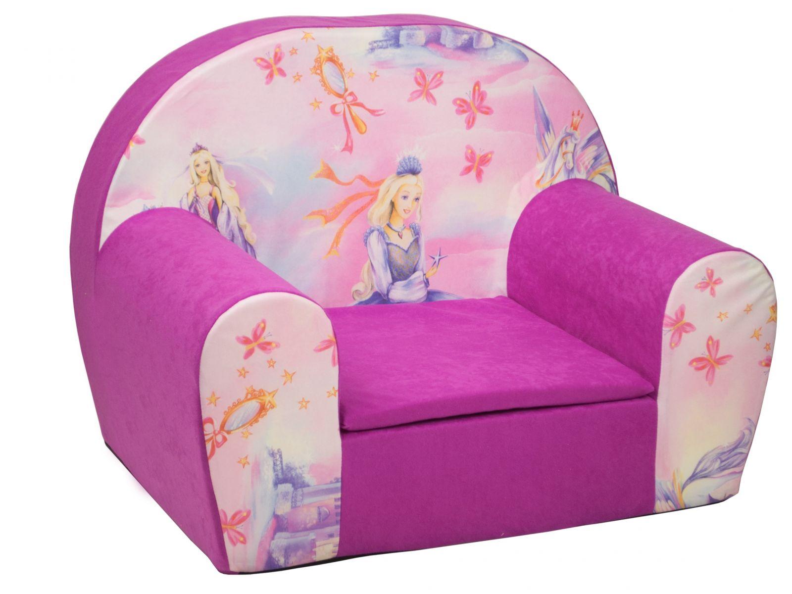 Fimex Dětské křesílko Princezna růžové
