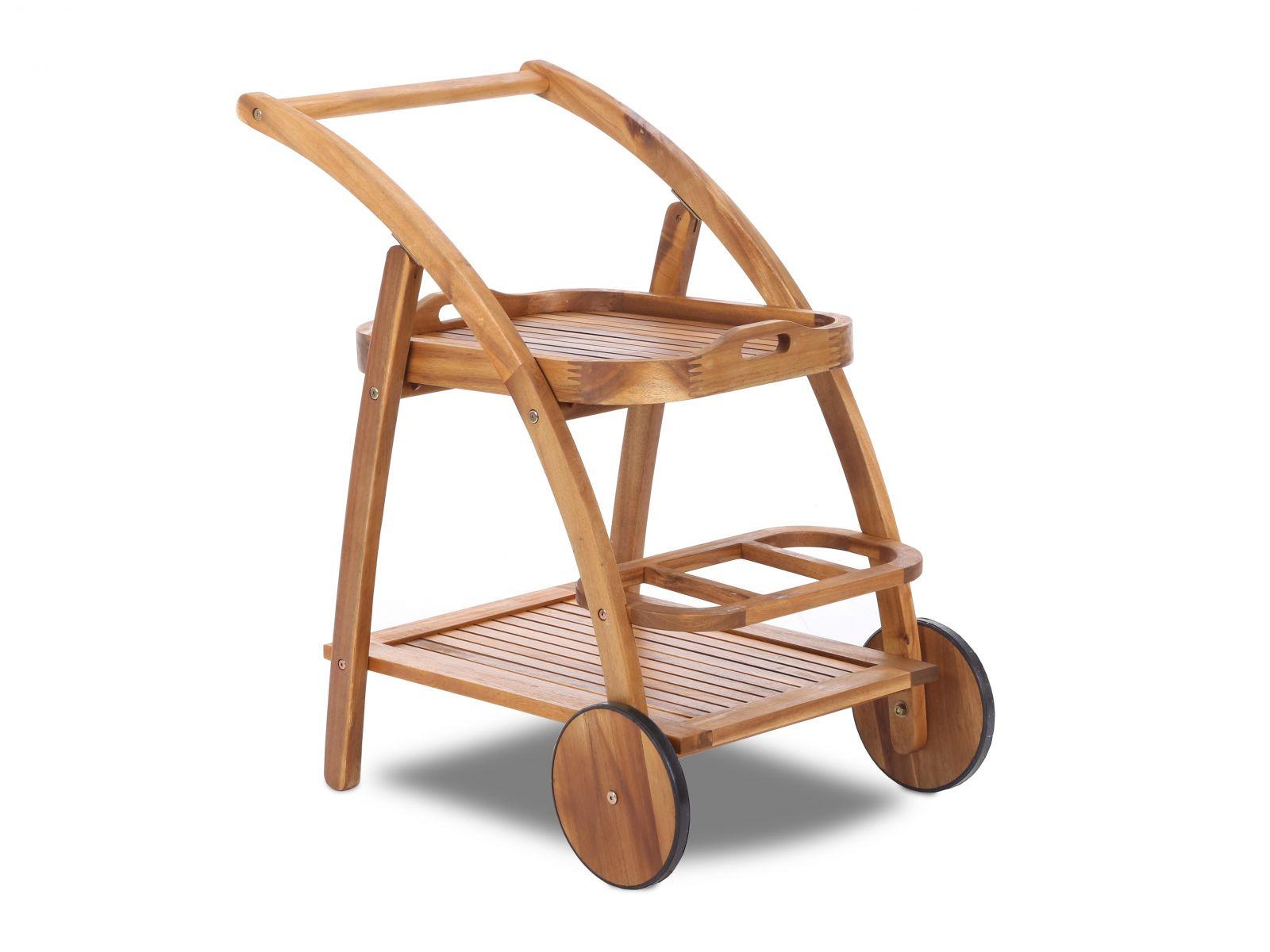 Home&Garden Dřevěný servírovací stolek Akácie