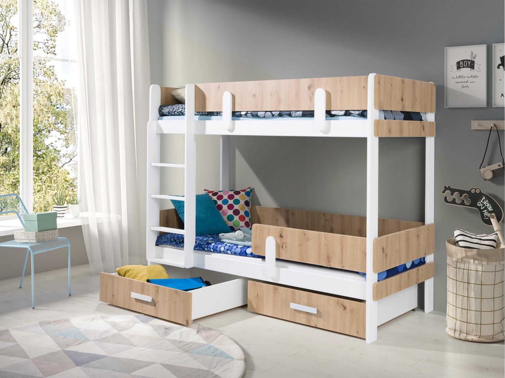 MebloBed Patrová postel Ettore s úložným prostorem