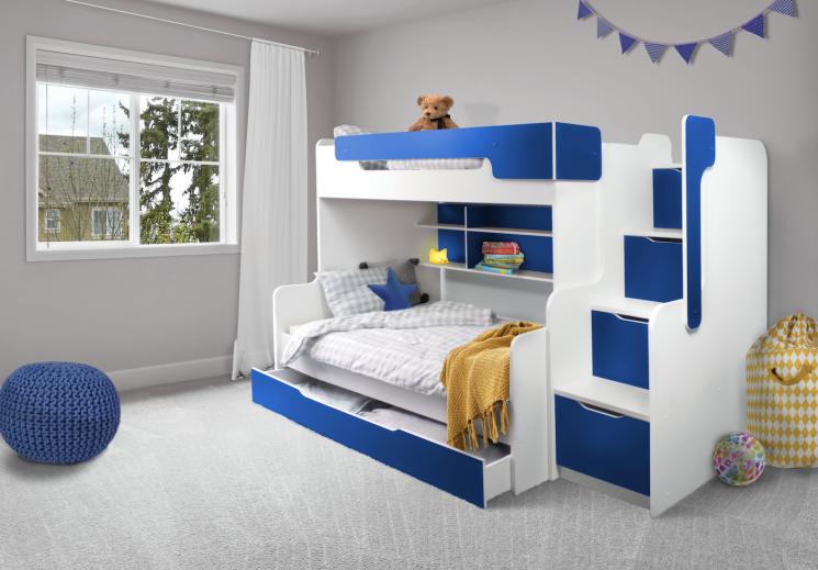 MebloBed Patrová postel Harry s úložným prostorem