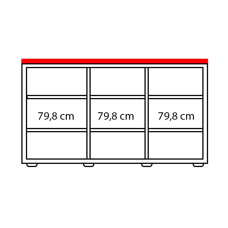 Lenza Horní obkladová deska Wels Š 247,4 cm