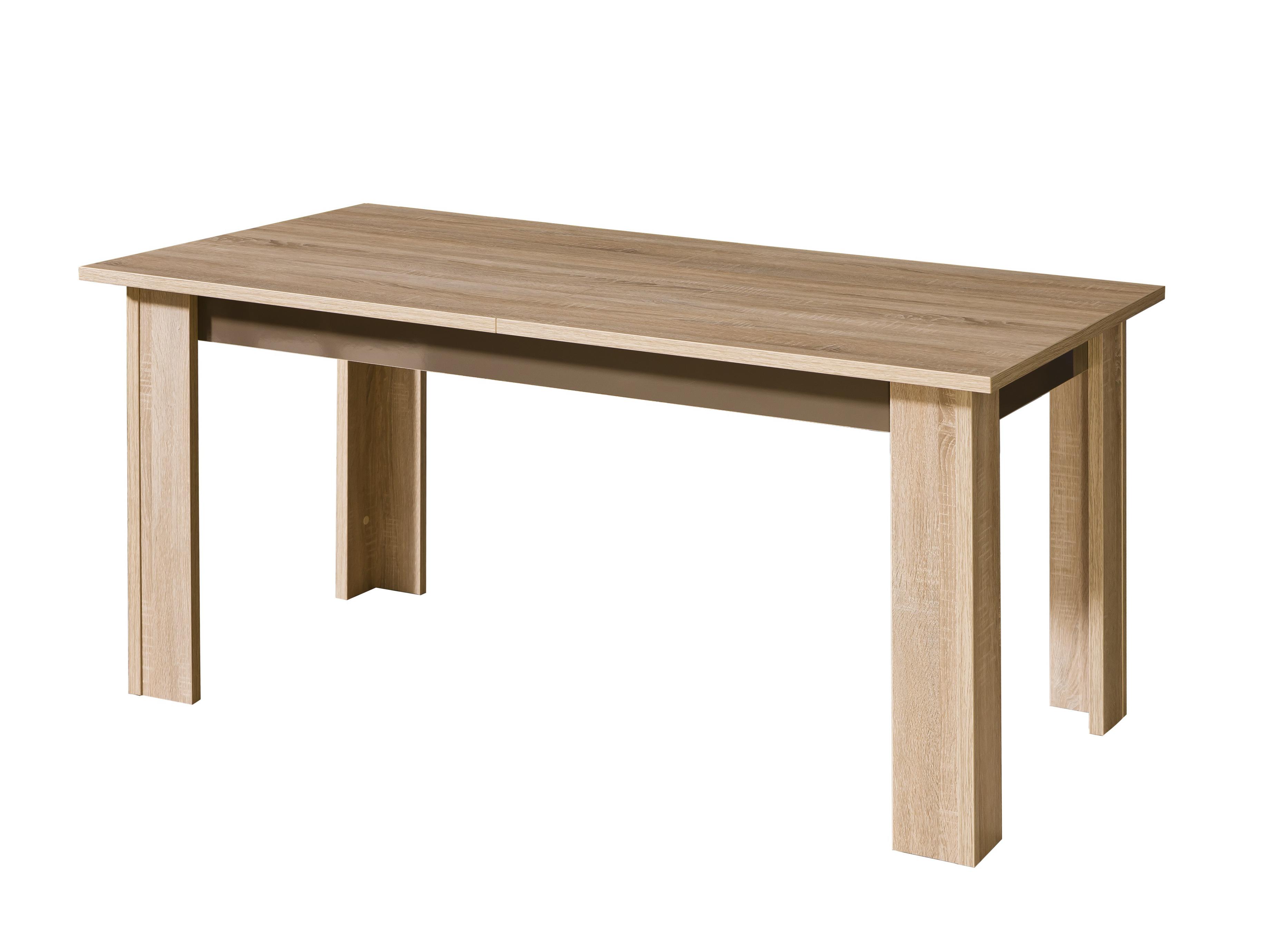 Dolmar Jídelní stůl Carmelo C11 Dub sonoma / bílý lesklý
