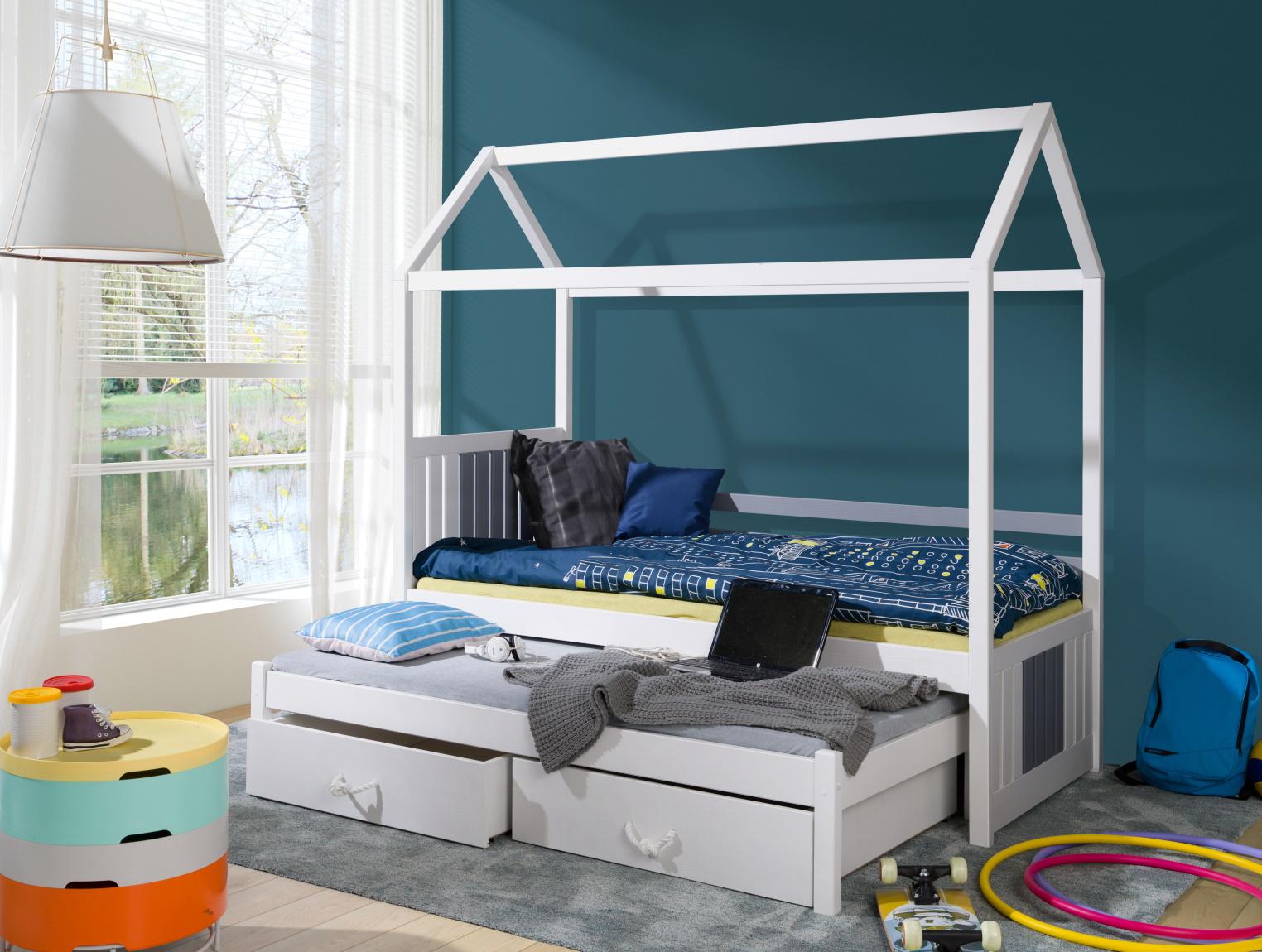 MebloBed Rozkládací postel Jonáš s úložným prostorem