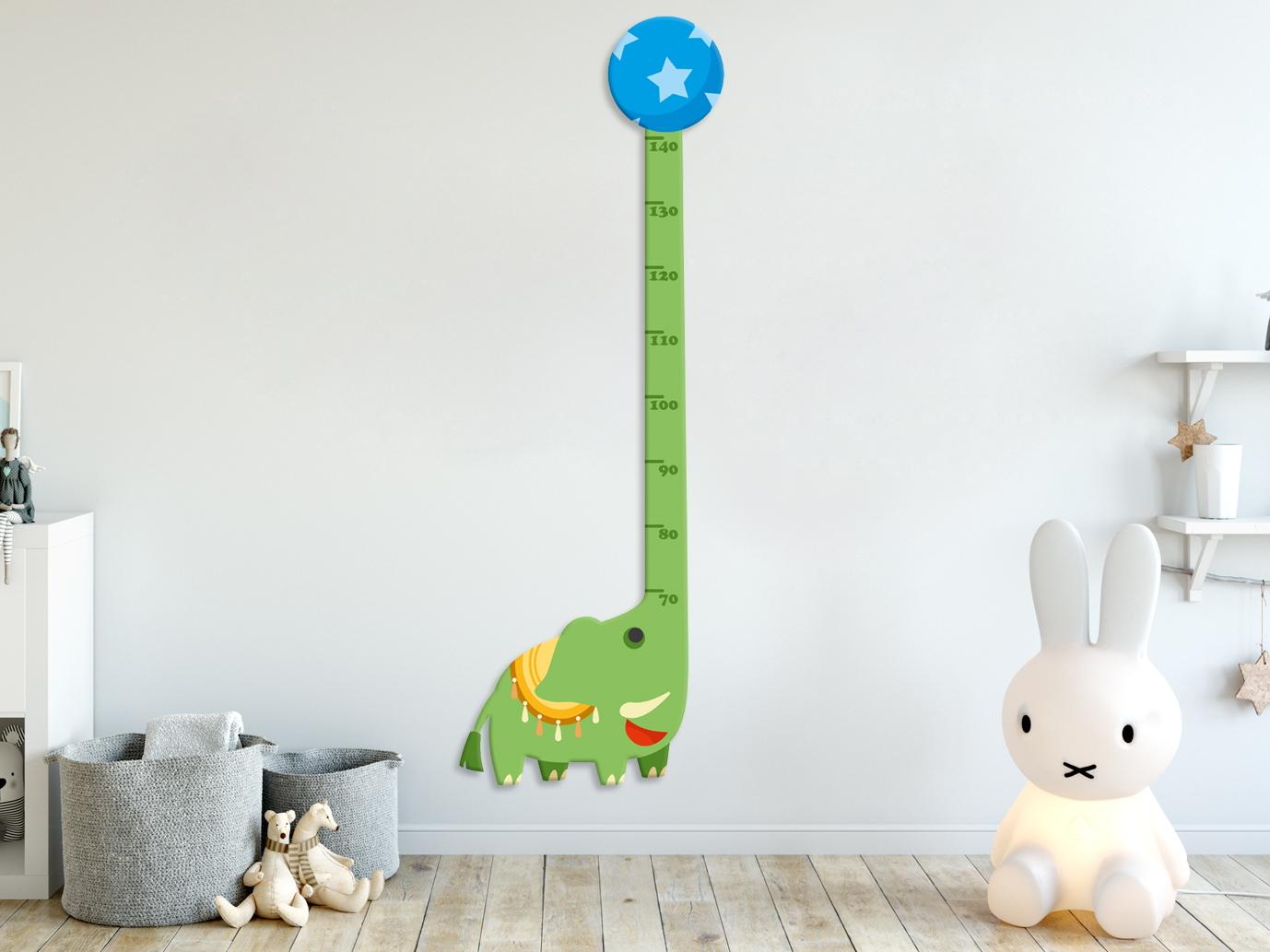 e-matrace.com Dětský metr Slon zelený