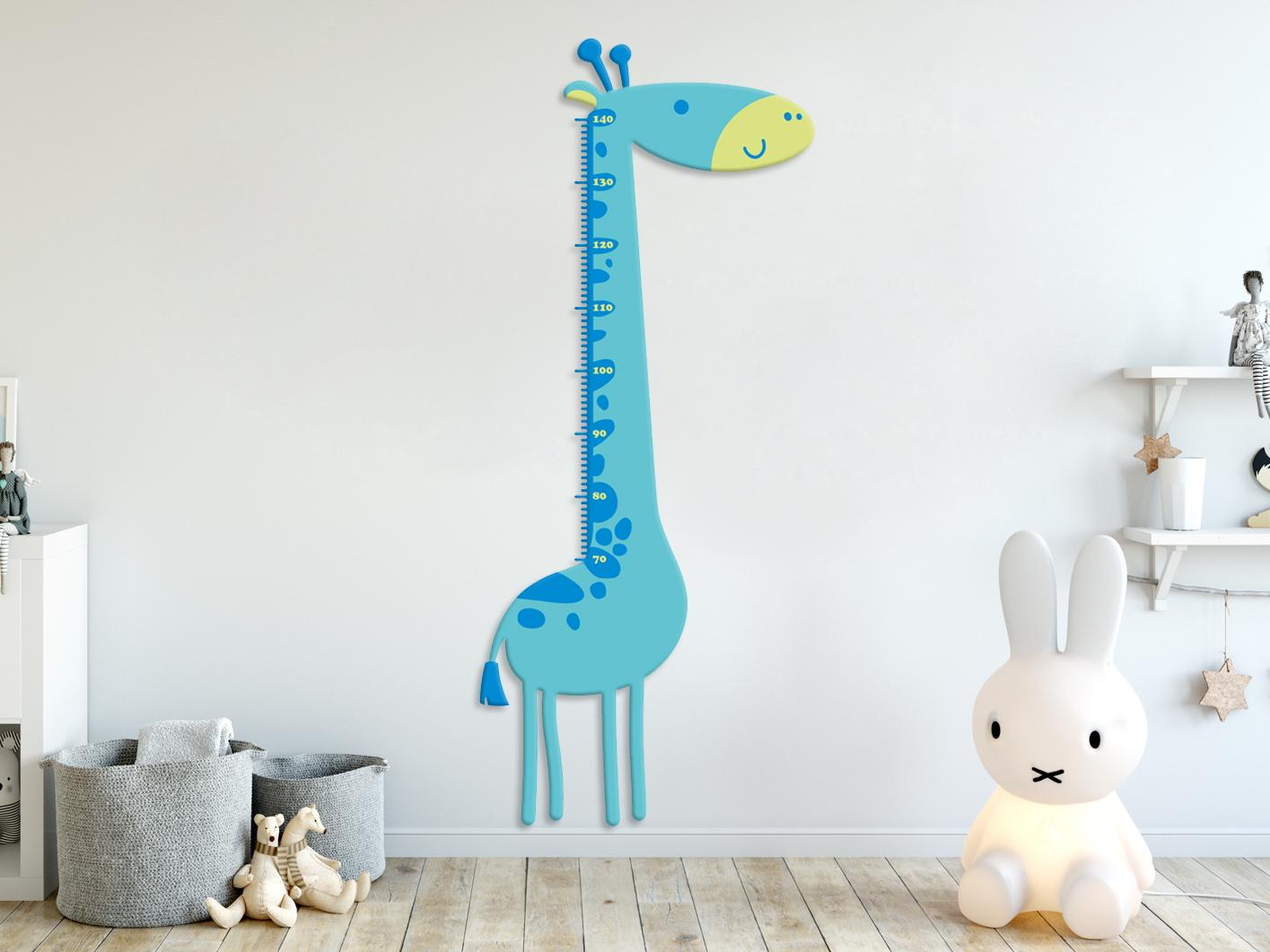 e-matrace.com Dětský metr Žirafa modrý