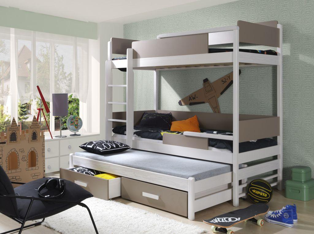 MebloBed Patrová postel Quatro - trojlůžko