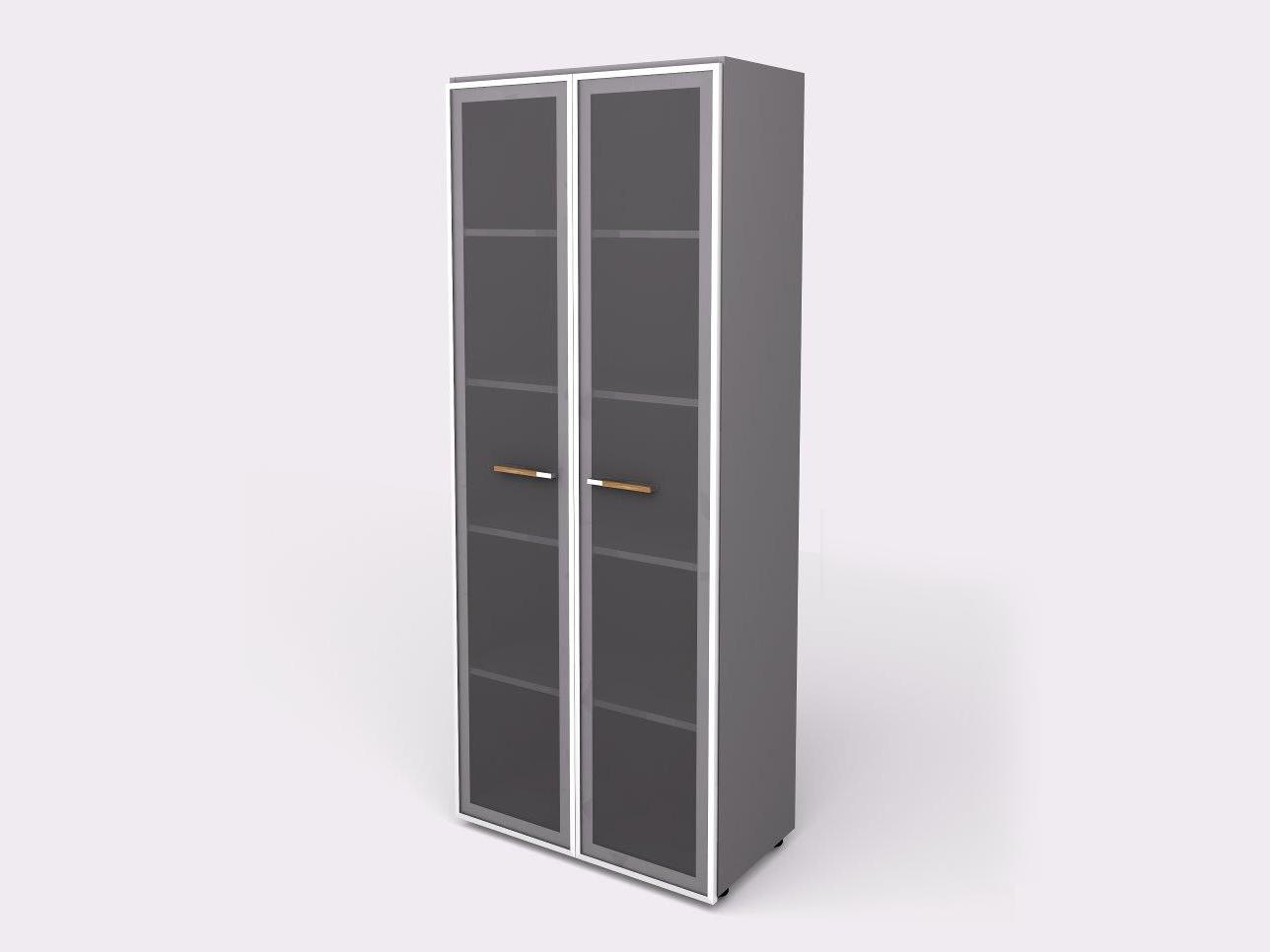 Lenza Policová skříň Wels se skleněnými dveřmi 196,5 cm