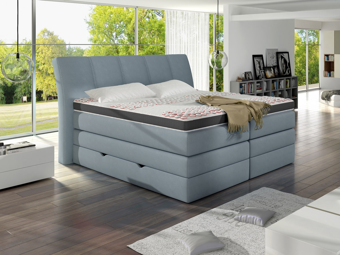 meble marzenie postel boxspring korfu soft top 160x200 cm. Black Bedroom Furniture Sets. Home Design Ideas