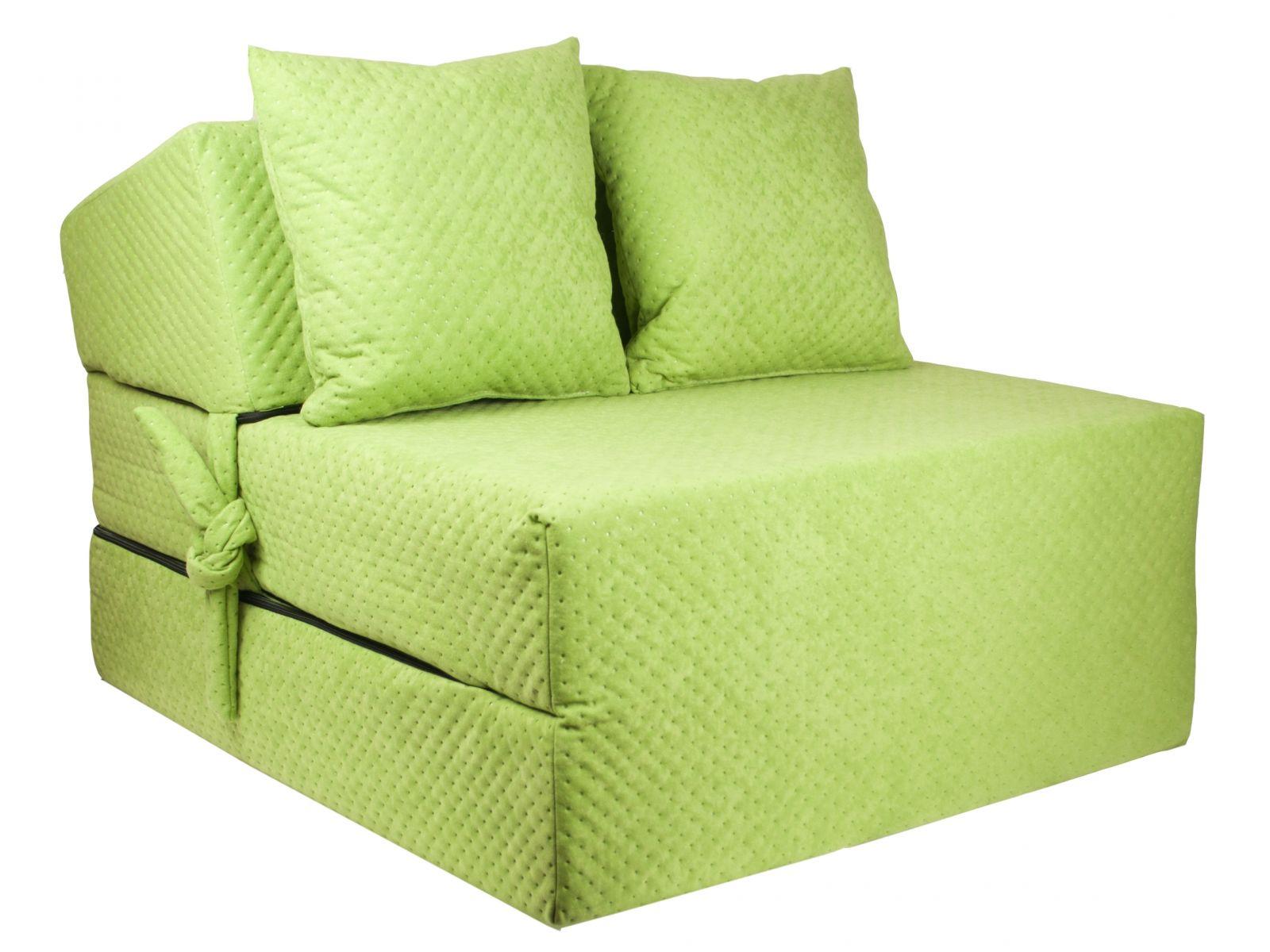 Fimex Rozkládací křeslo - matrace pro hosty Comfort zelené