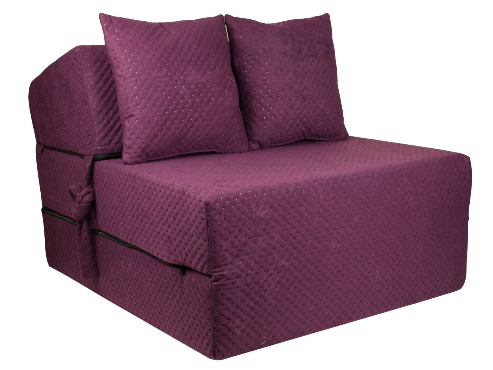 Fimex Rozkládací křeslo - matrace pro hosty Comfort fialové