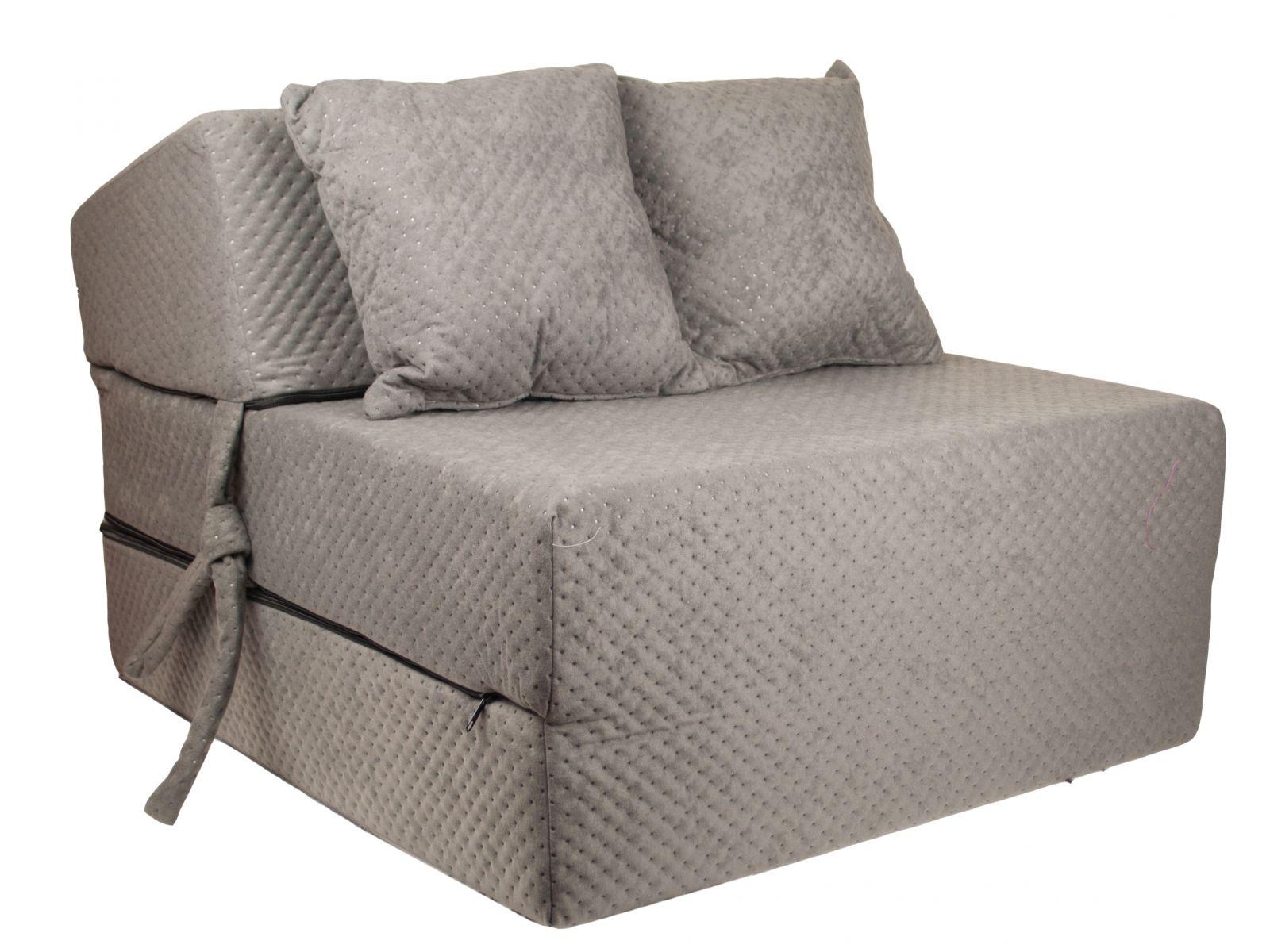 Fimex Rozkládací křeslo - matrace pro hosty Comfort šedé