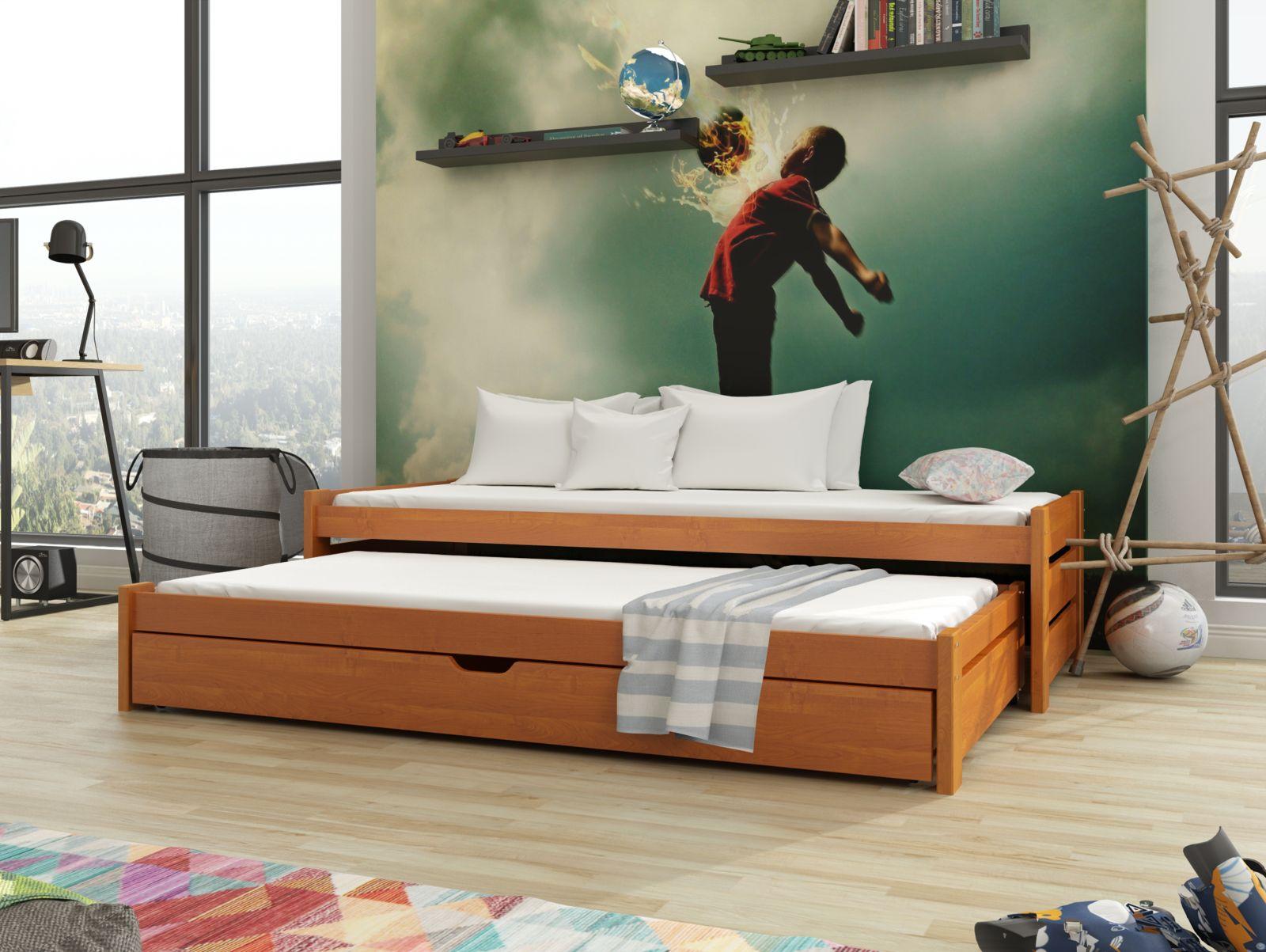 Lano Meble Rozkládací postel Aniš s úložným prostorem 80x180 cm
