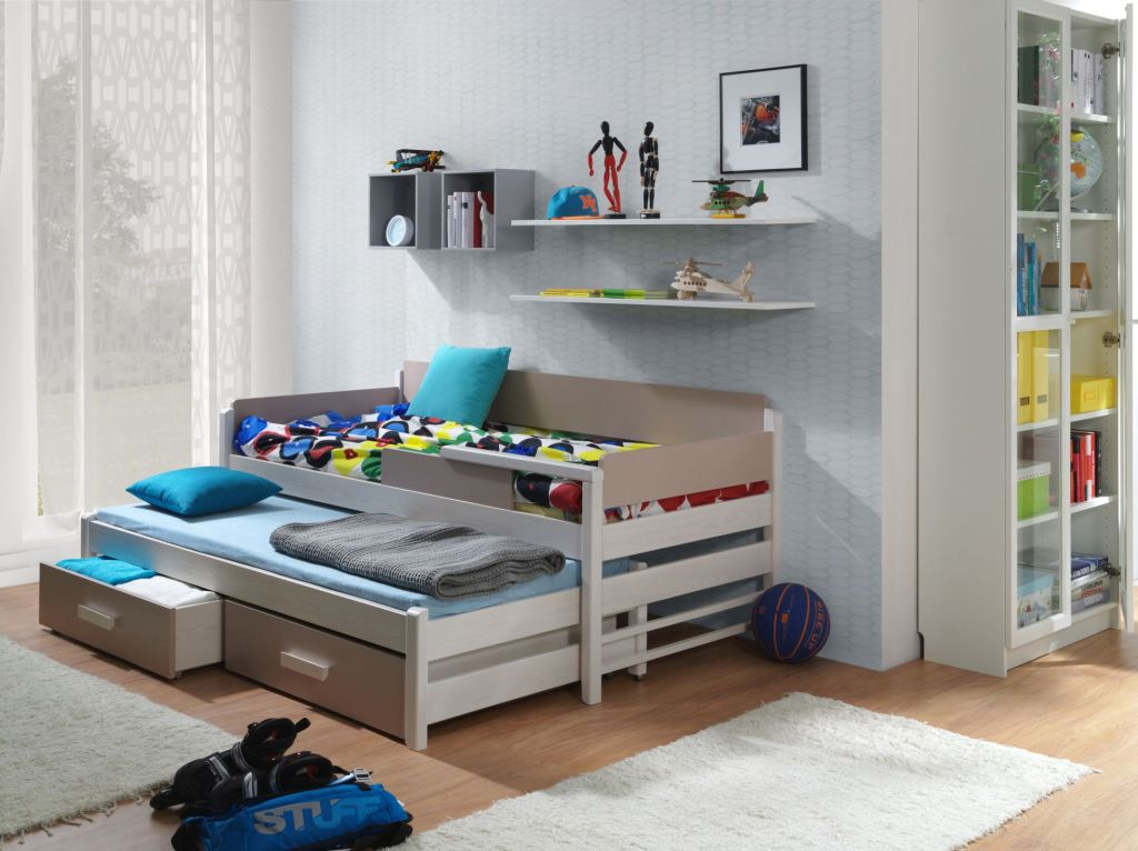 MebloBed Rozkládací postel Dois s úložným prostorem