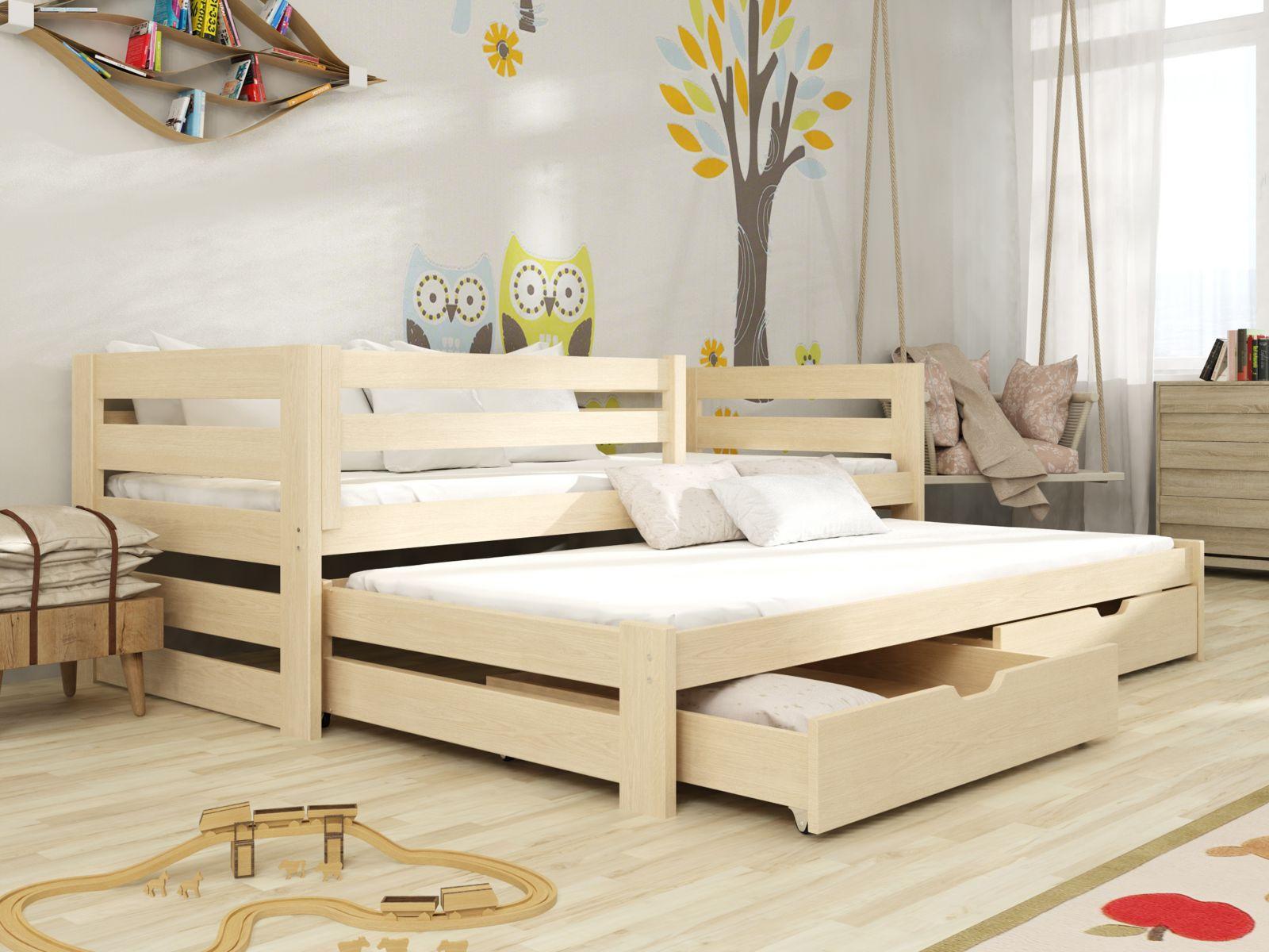 Lano Meble Rozkládací postel Kuba s úložným prostorem 80x180 cm