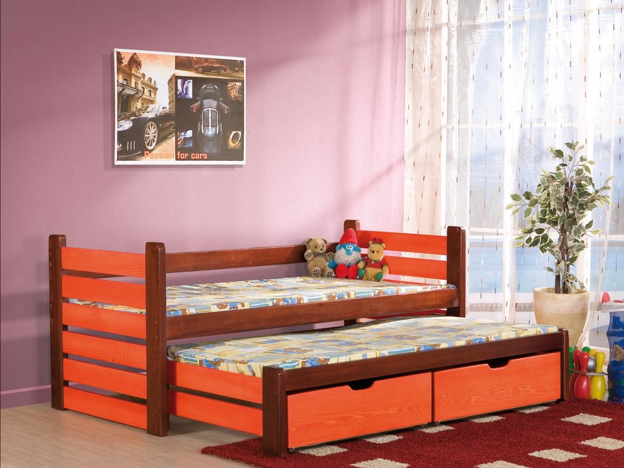 MebloBed Rozkládací postel Mateus s úložným prostorem