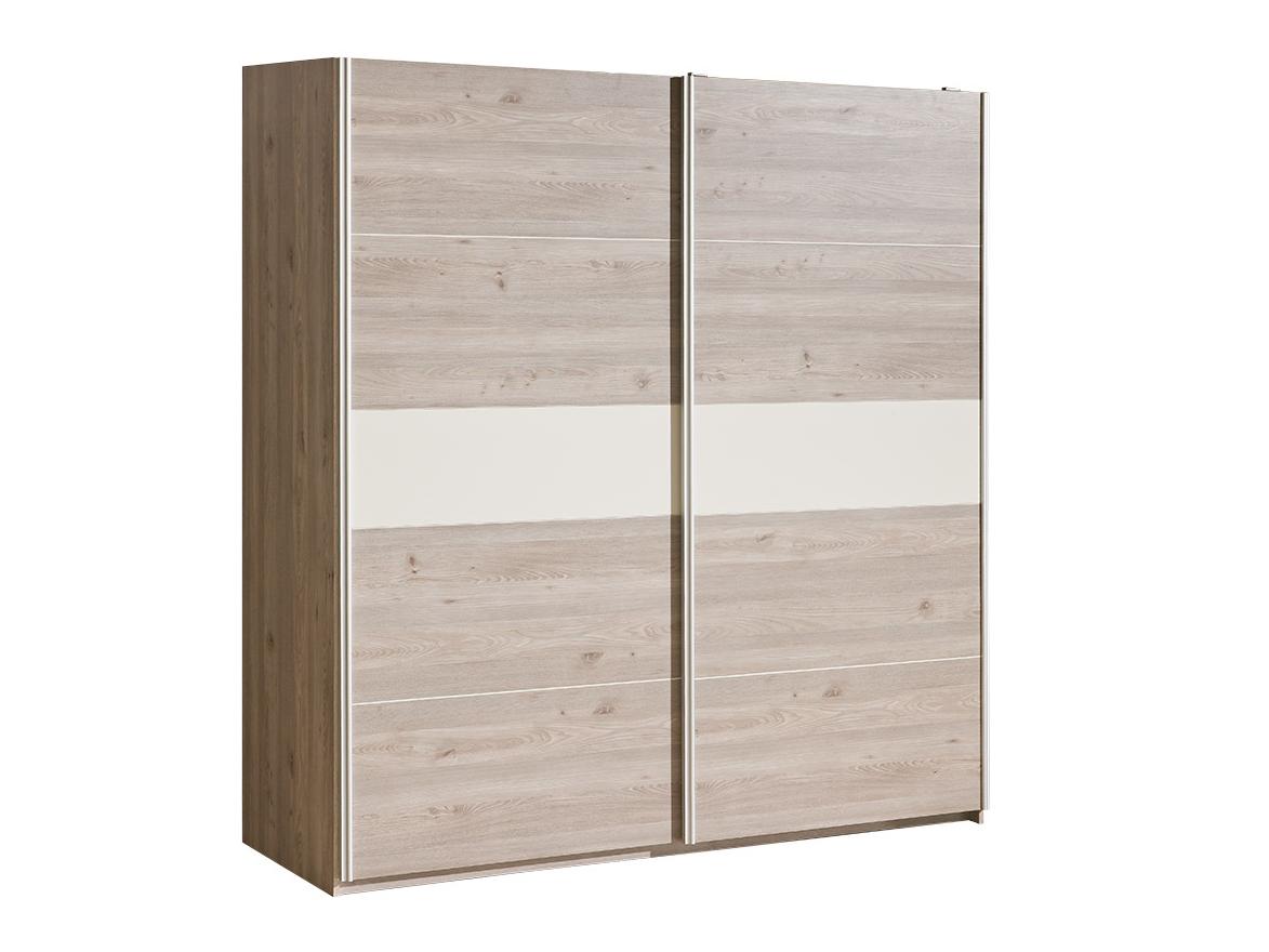 Dolmar Šatní skříň Verto V20 s posuvnými dveřmi Dub nelson / magnolia s perleťovým leskem, tiché dovírání dveří edd0f9e7bcd624d8fcf8d551efd31c7f