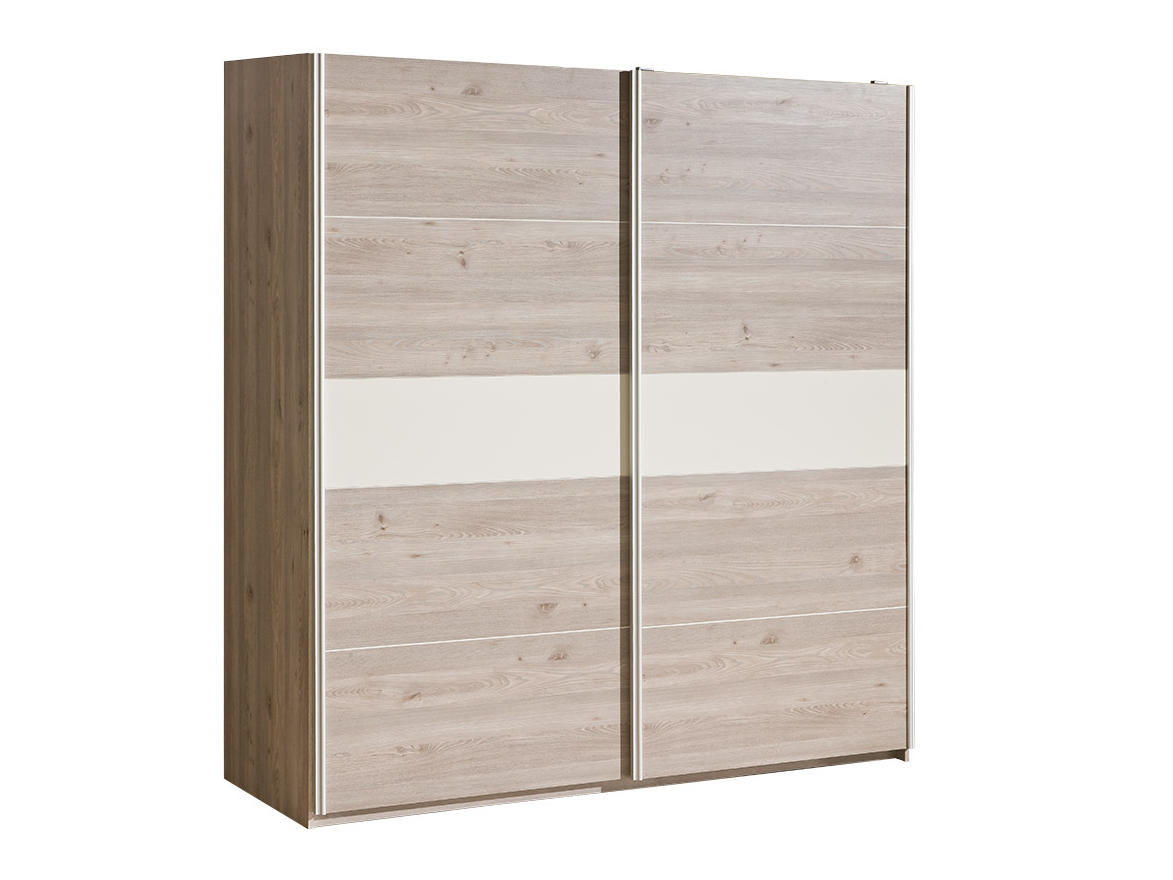 Dolmar Šatní skříň Verto V20 s posuvnými dveřmi Dub nelson / šedá s perleťovým leskem, standard