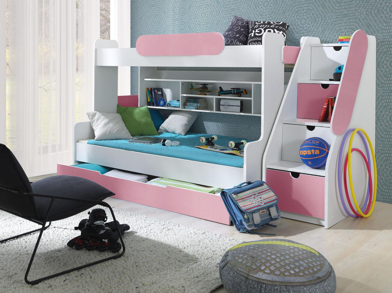 MebloBed Patrová postel Segan s úložným prostorem