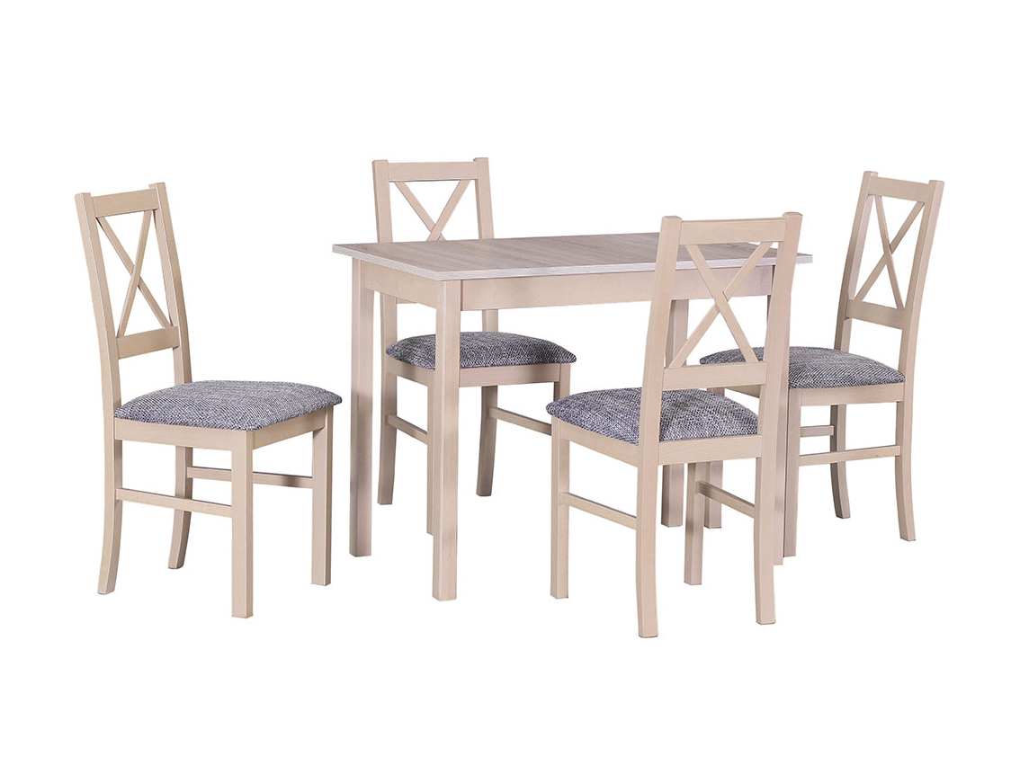 DREWMIX Sestava stůl Max I + 4 ks židle Nilo X